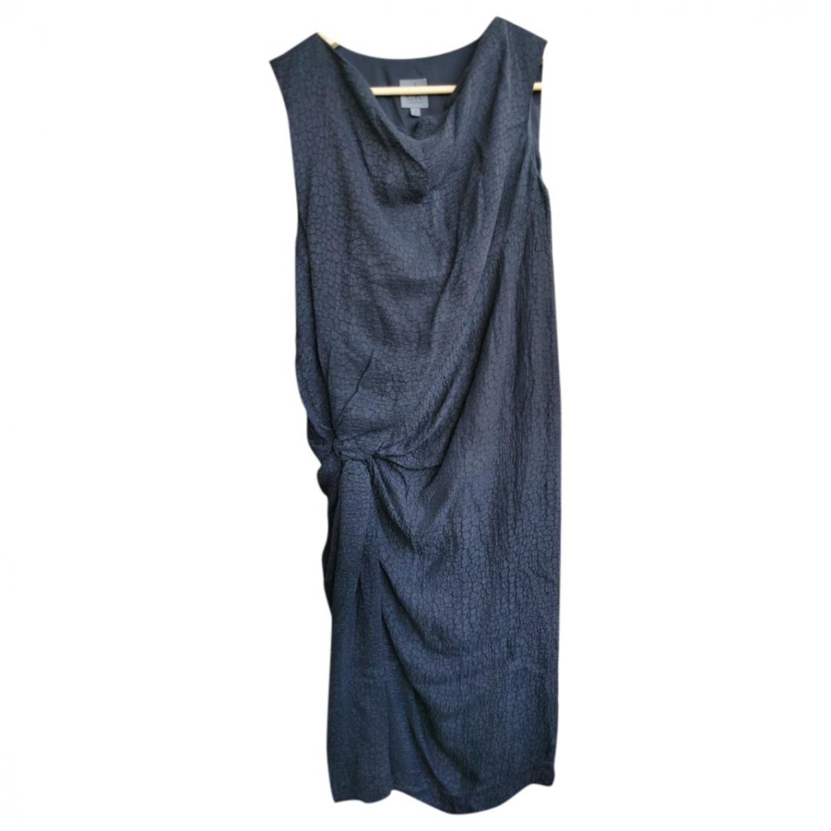 Calvin Klein \N Kleid in  Anthrazit Baumwolle