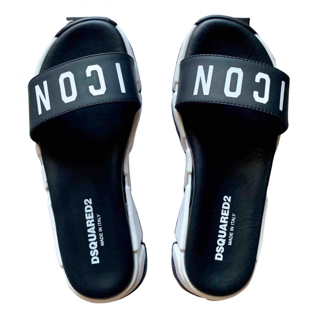 Dsquared2 \N Sandalen in  Schwarz Leder
