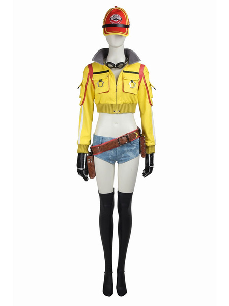Milanoo Final Fantasy XV Cindy Aurum Carnival Cosplay Costume Carnival