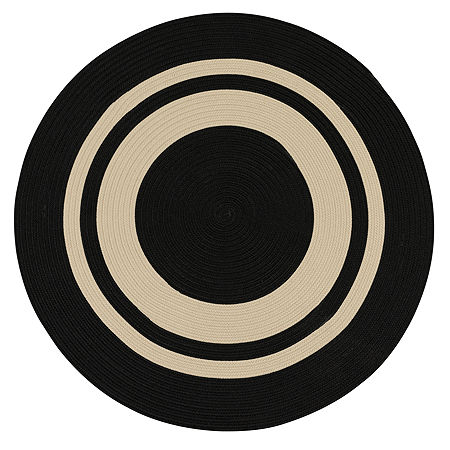 Colonial Mills Oceanside Braided Round Reversible Indoor/Outdoor Rugs, One Size , Black