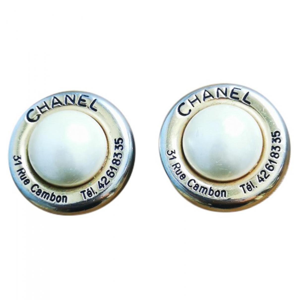 Chanel \N Gold Pearls Earrings for Women \N