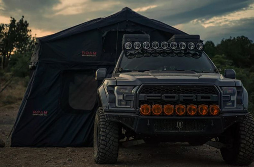ROAM Vagabond Rooftop Tent Black With Annex