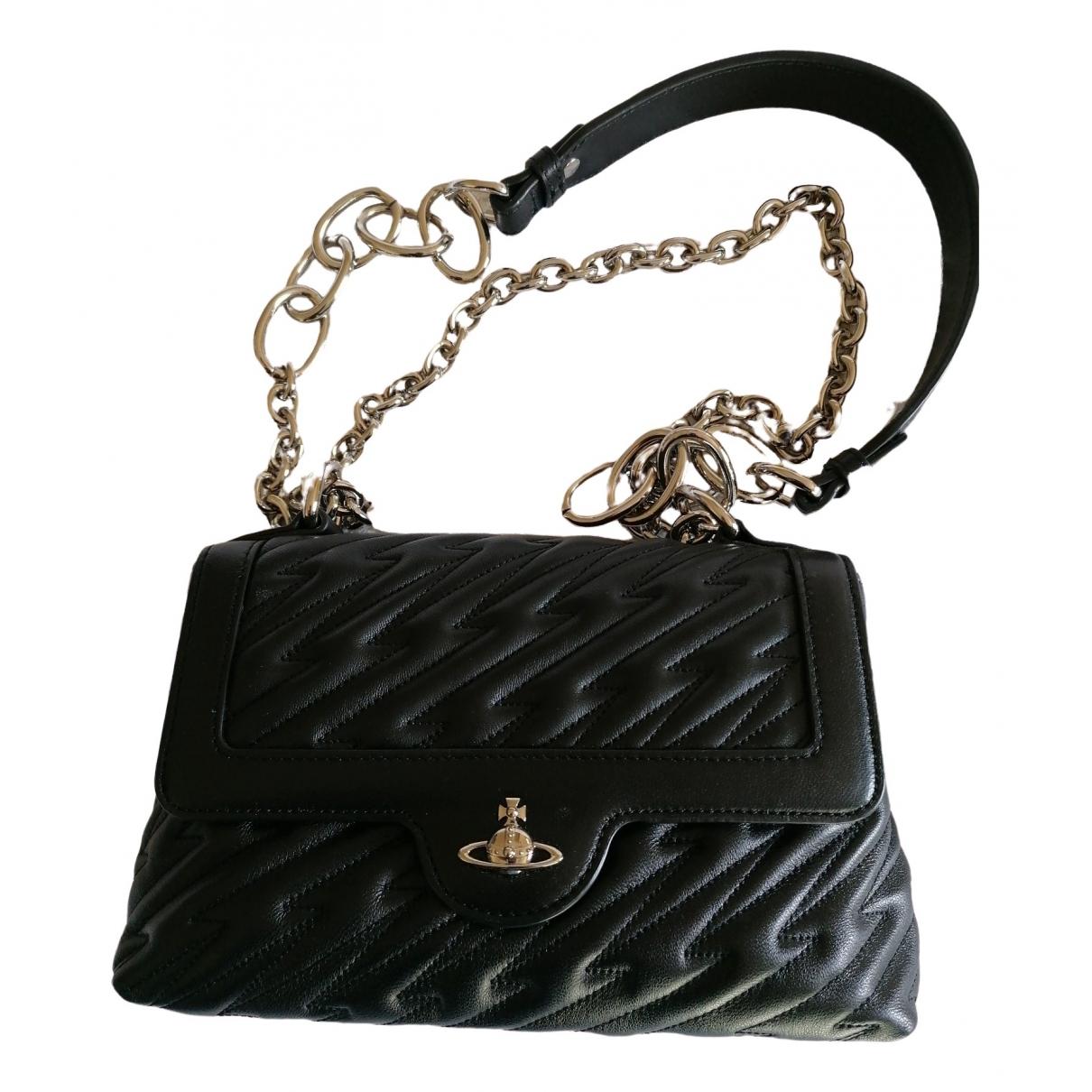 Vivienne Westwood \N Handtasche in  Schwarz Leder