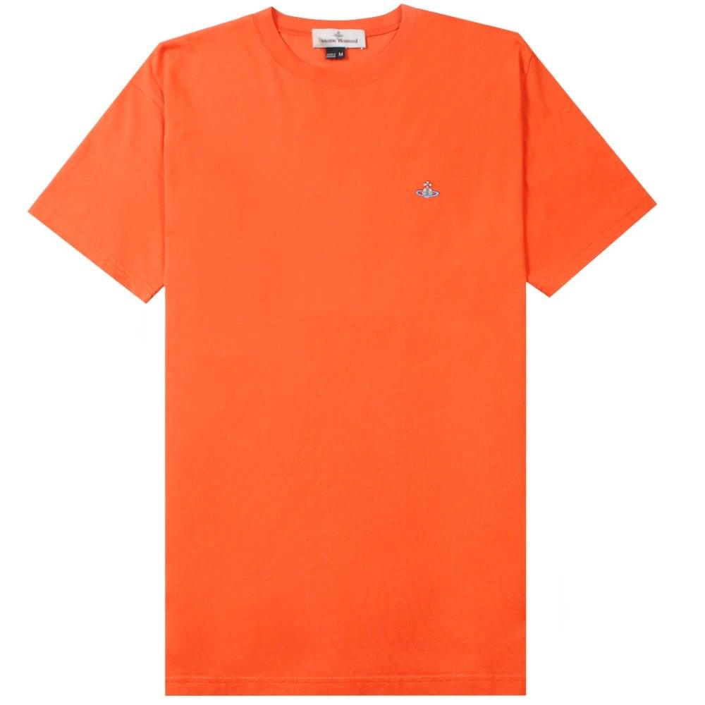 Vivienne Westwood Classic Orb Logo T-Shirt Colour: ORANGE, Size: EXTRA LARGE