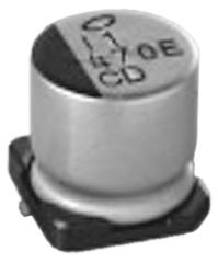 Nichicon 68μF Electrolytic Capacitor 35V dc, Surface Mount - UCD1V680MCL1GS (10)