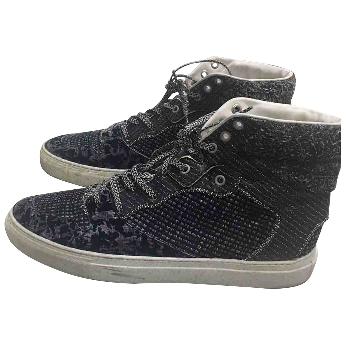 Balenciaga \N Sneakers in  Marine Leinen