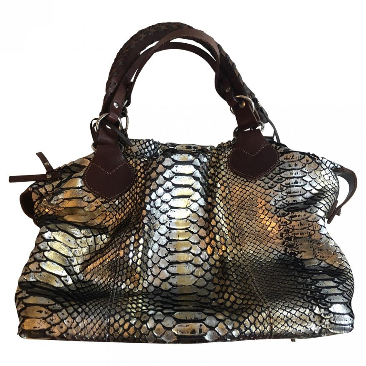 Pauric Sweeney \N Handtasche in  Metallic Python