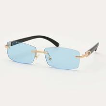 Maenner Einfache randlose Sonnenbrille