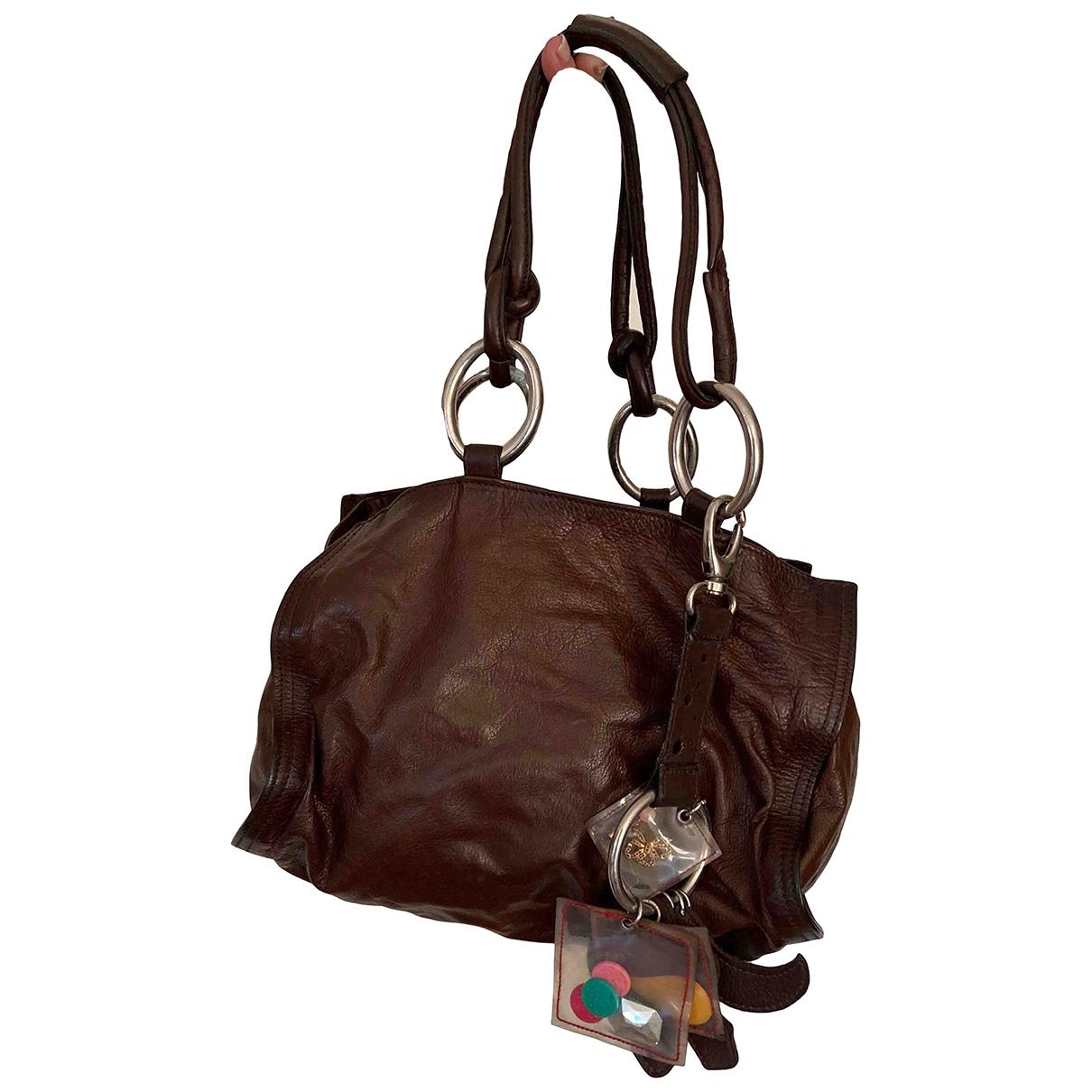 Marni \N Handtasche in  Braun Leder