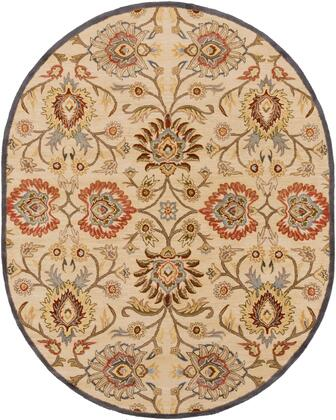 Caesar CAE-1116 6' x 9' Oval Traditional Rug in