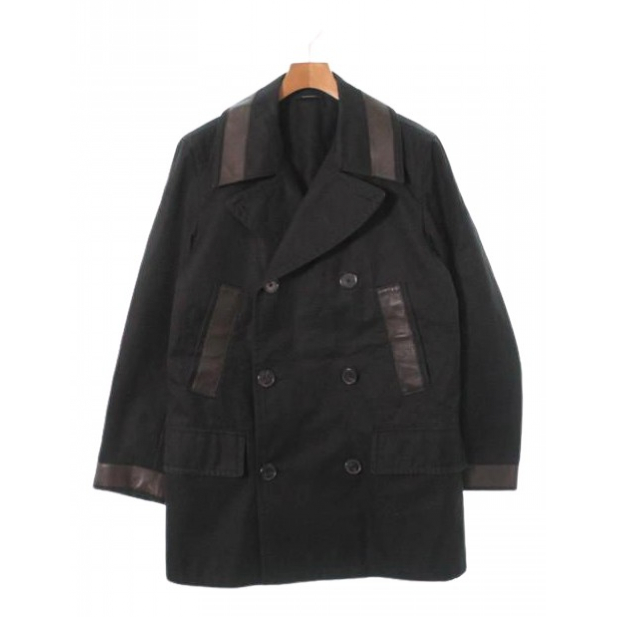 Hermes - Manteau   pour homme en coton - noir
