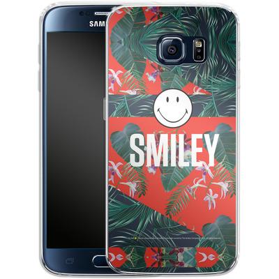 Samsung Galaxy S6 Silikon Handyhuelle - Tropical Groove von Smiley®