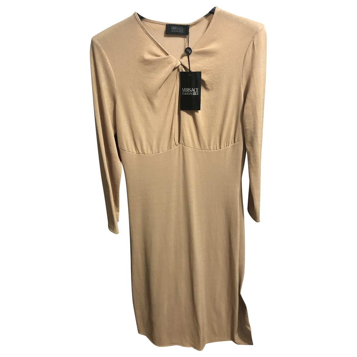 Versace \N Gold dress for Women 42 IT