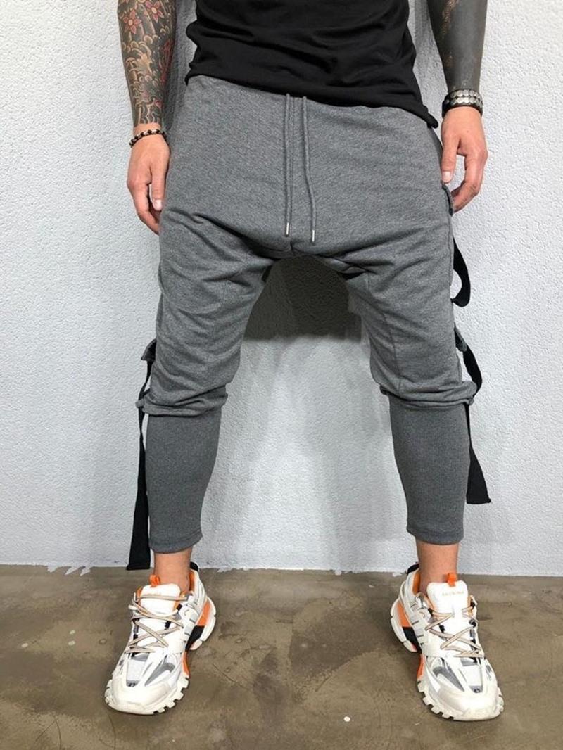 Ericdress Baggy Pants Pocket Spring Casual Pants