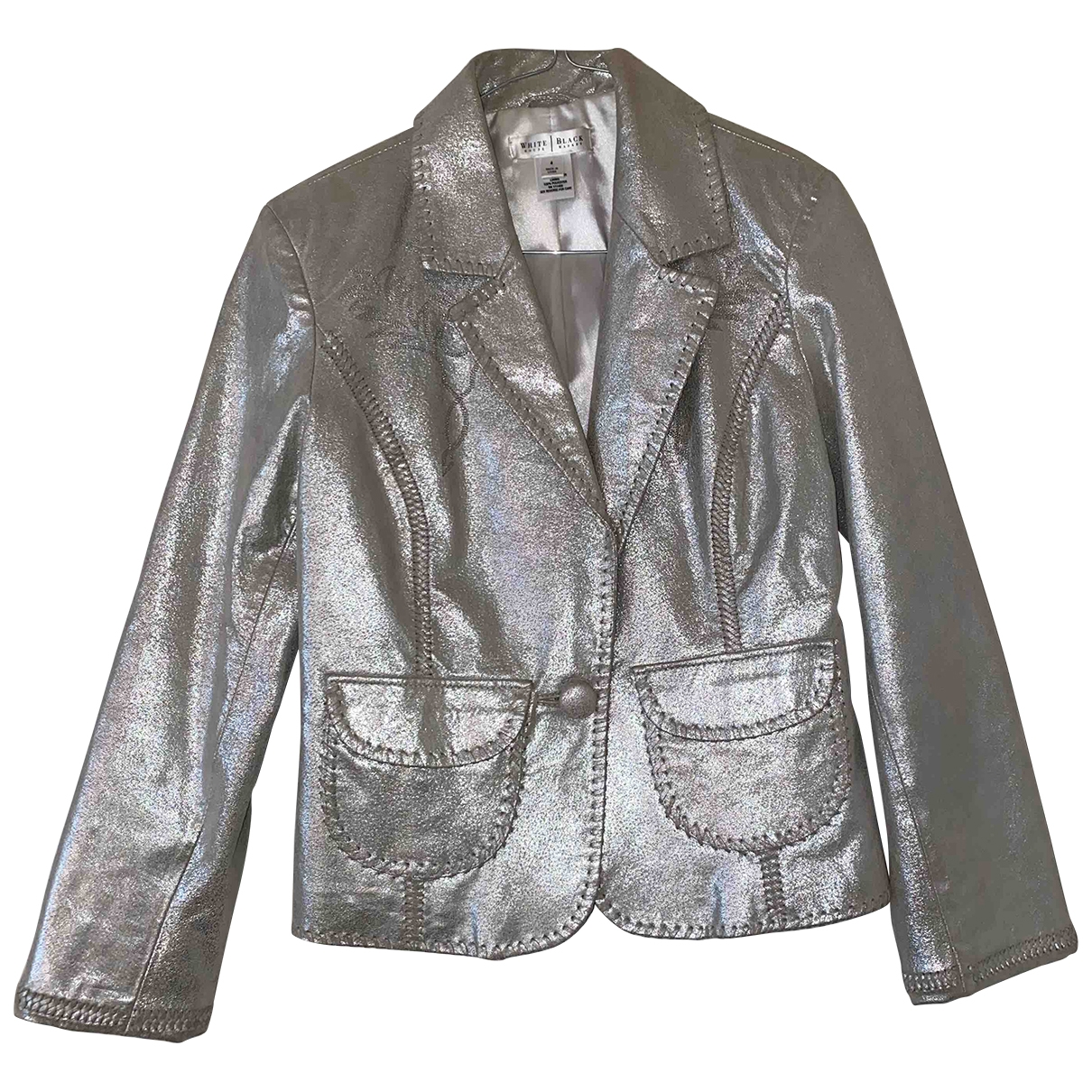 Non Signe / Unsigned \N Jacke in  Silber Polyester
