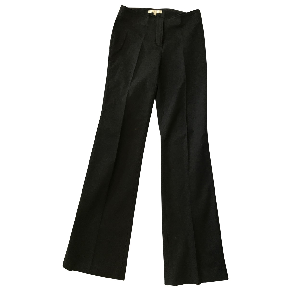Paule Ka \N Black Cotton Trousers for Women 36 FR