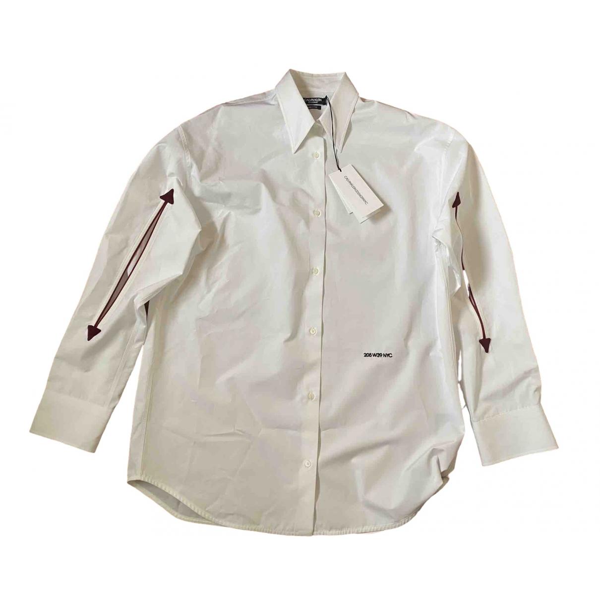 Calvin Klein 205w39nyc - Top   pour femme en coton - blanc