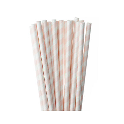 Party Paper Drinking Striped Straws, 7.8*0.3