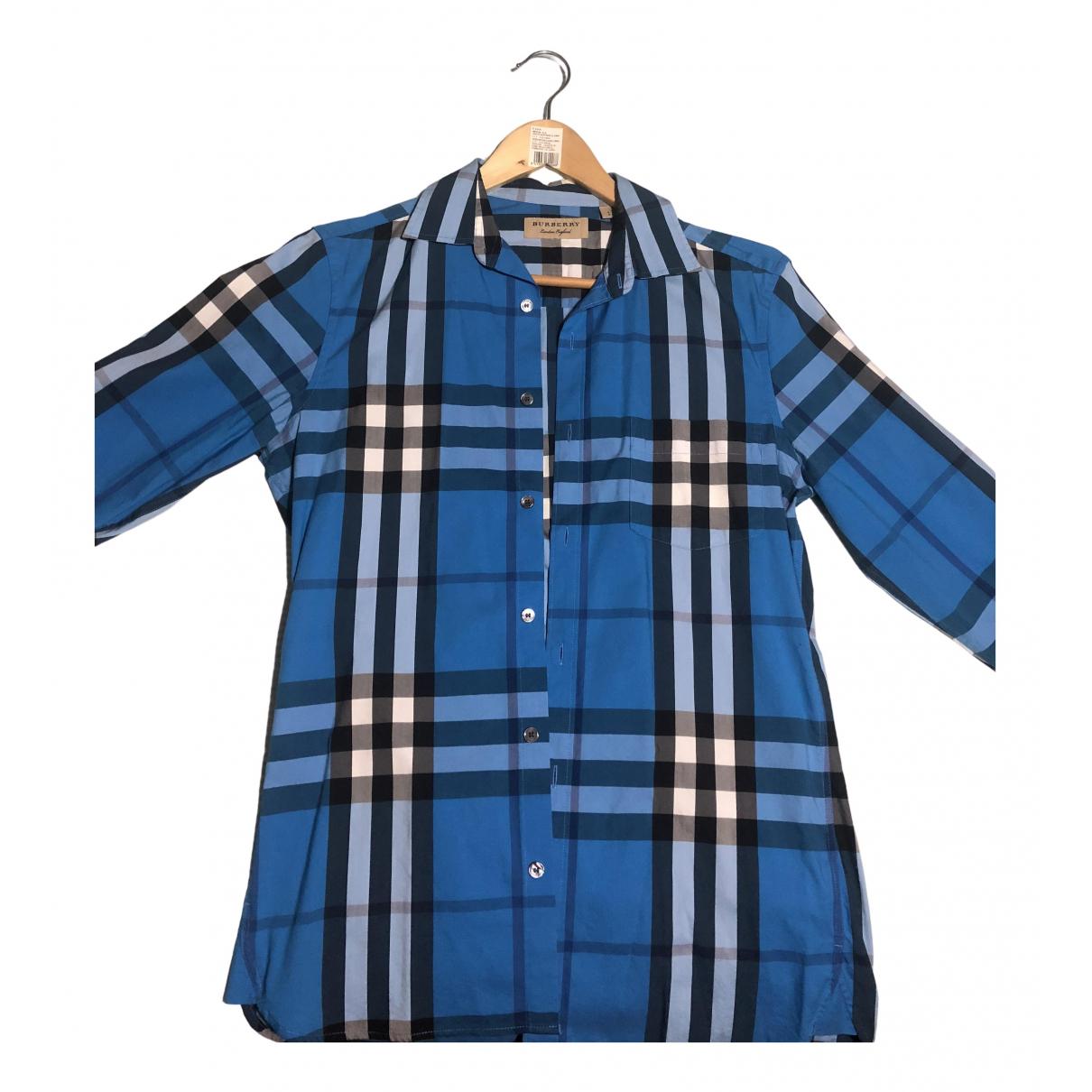 Burberry N Blue Cotton Shirts for Men S International