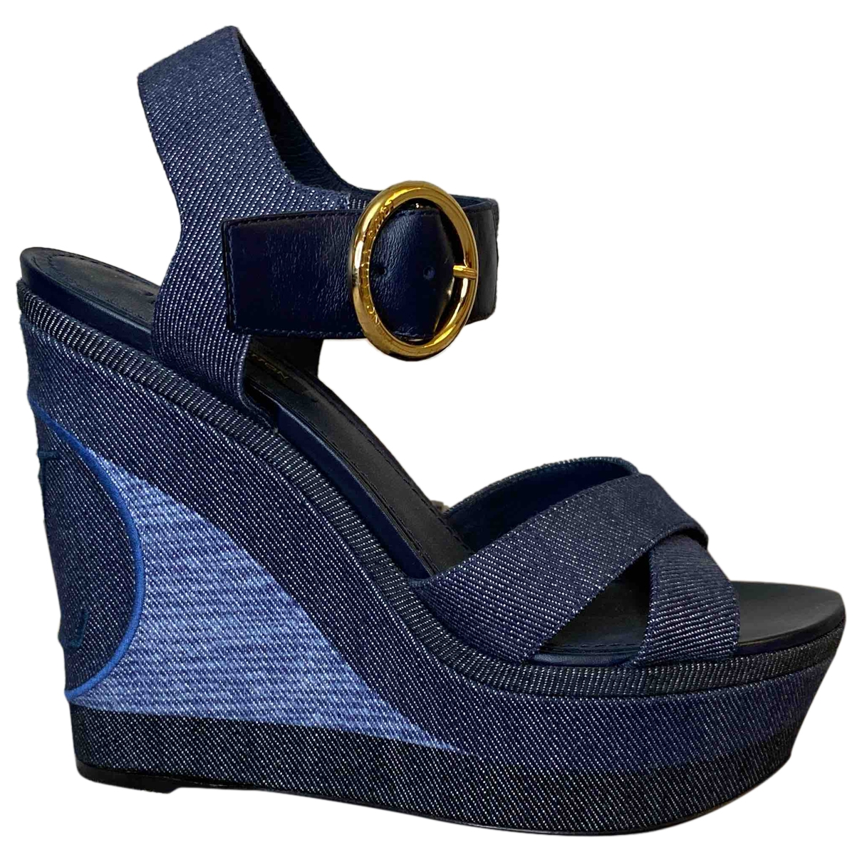 Louis Vuitton \N Pumps in  Blau Leinen