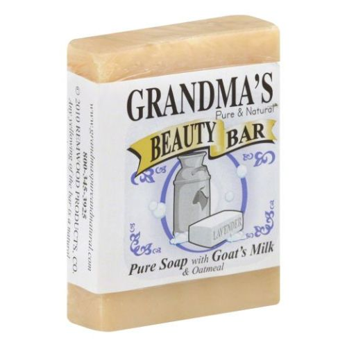 Beauty Bar Goat Milk Soap with Oatmeal 4 Oz by Grandmas Pure & Natural