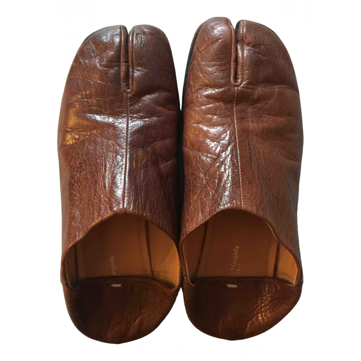 Maison Martin Margiela \N Brown Leather Mules & Clogs for Women 39 EU