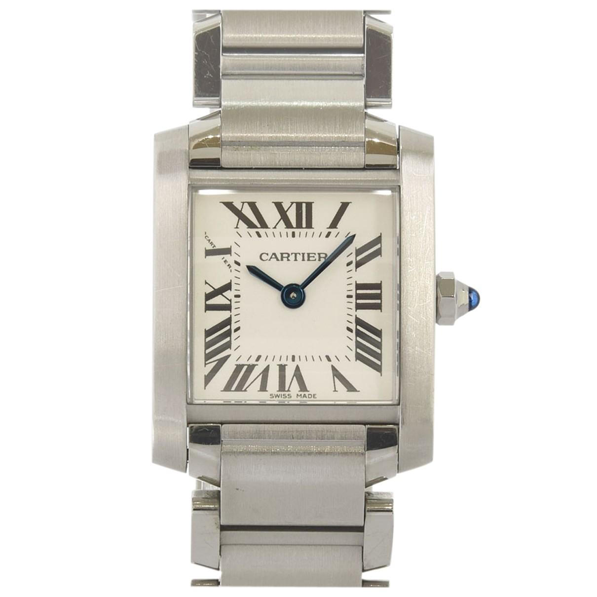 Cartier Tank Française White Steel watch for Women N