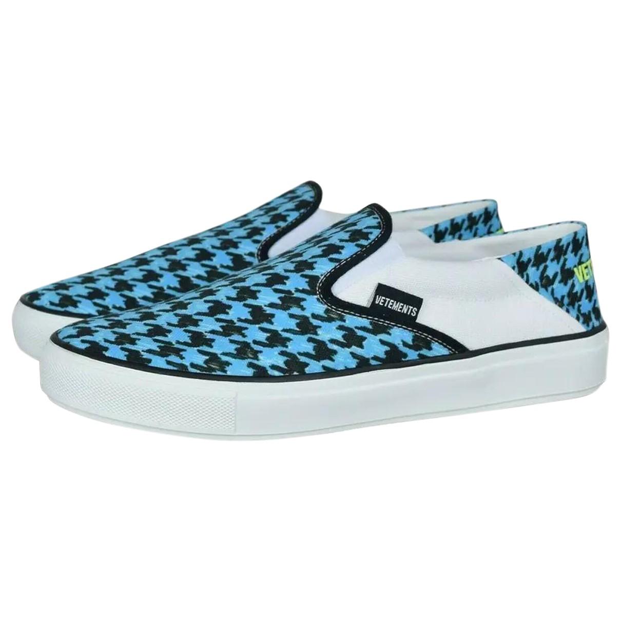 Vetements \N Sneakers in  Blau Leder