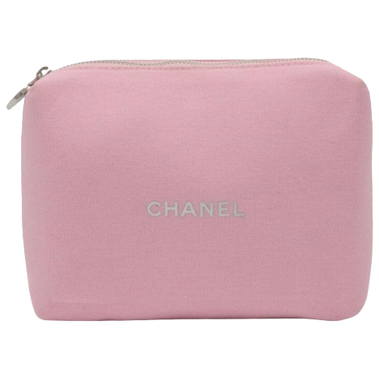 Chanel - Sac de voyage   pour femme en coton - rose