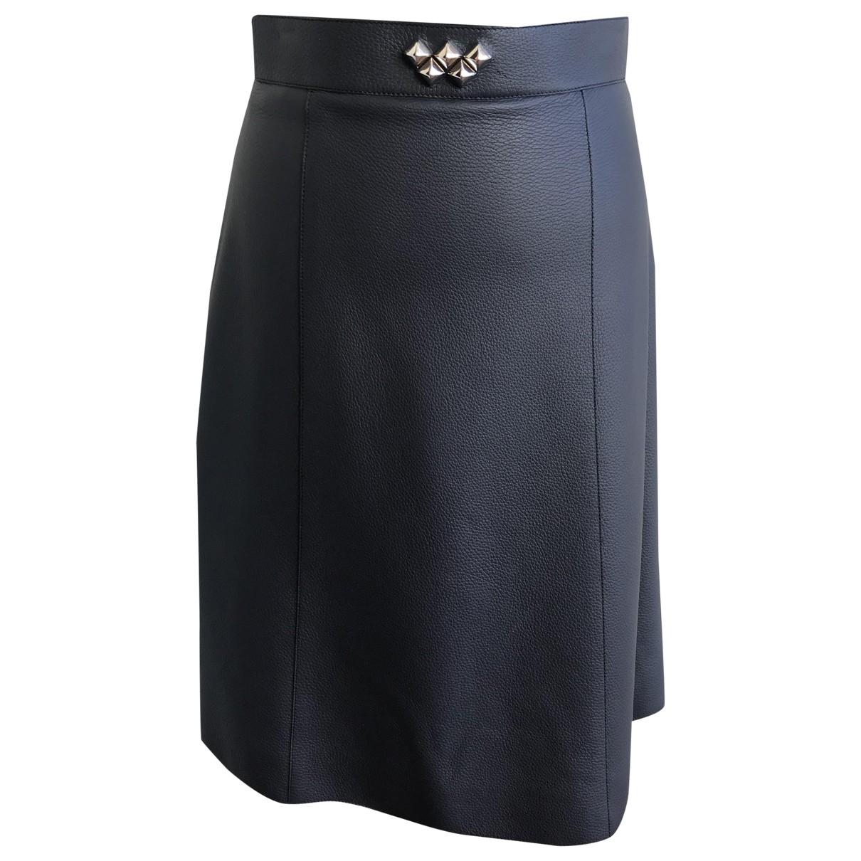 Hermès \N Grey Leather skirt for Women 38 FR