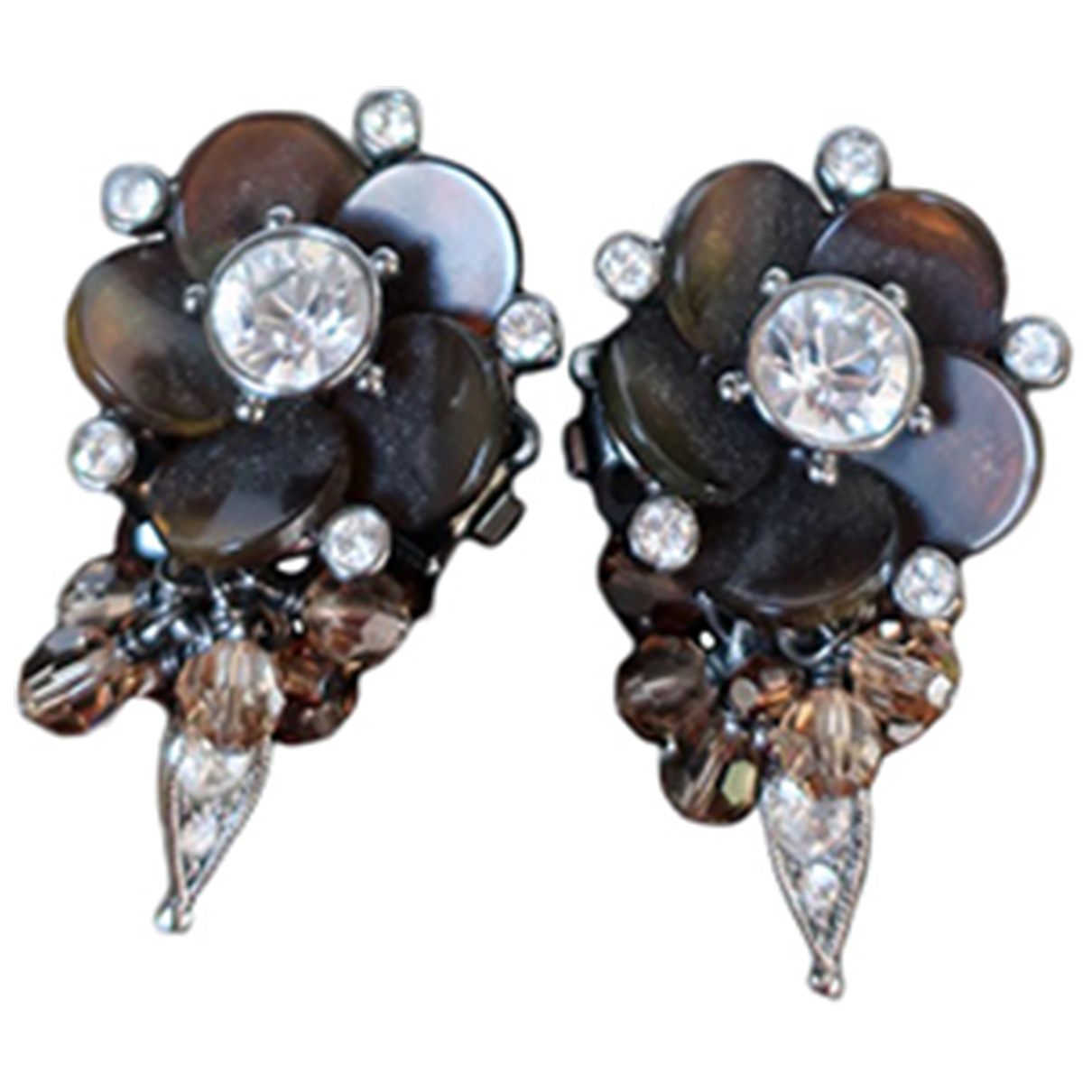 Dior - Boucles doreilles   pour femme en metal - marron