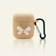 1pc Butterfly Decor AirPods Case