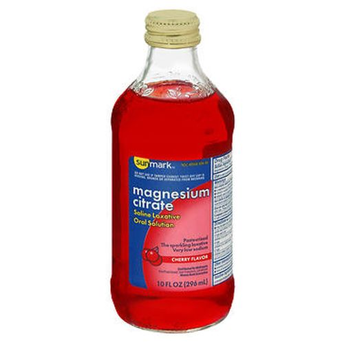 Sunmark Magnesium Citrate Oral Solution Cherry Flavor 10 Oz by Sunmark