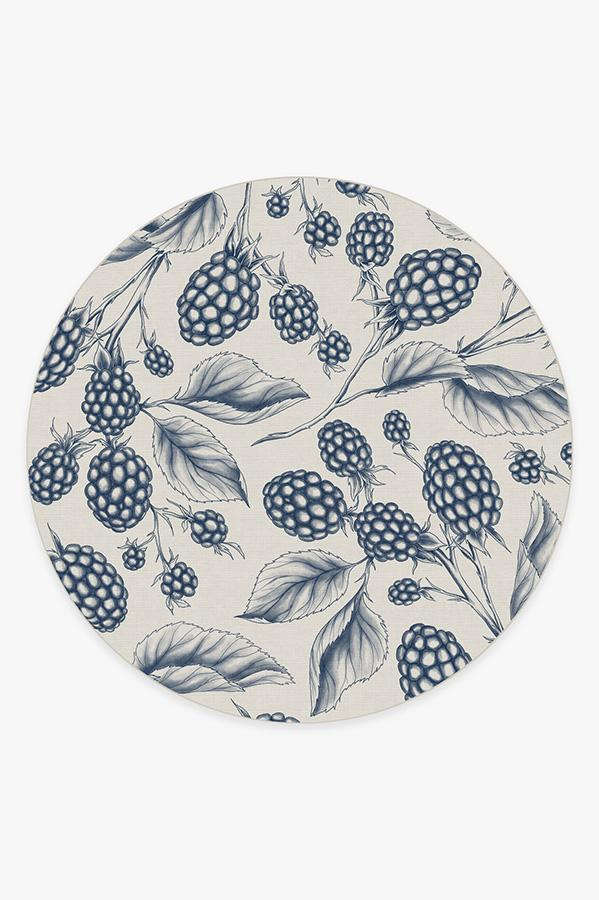Washable Rug Cover & Pad | Berry Blue Rug | Stain-Resistant | Ruggable | 8' Round