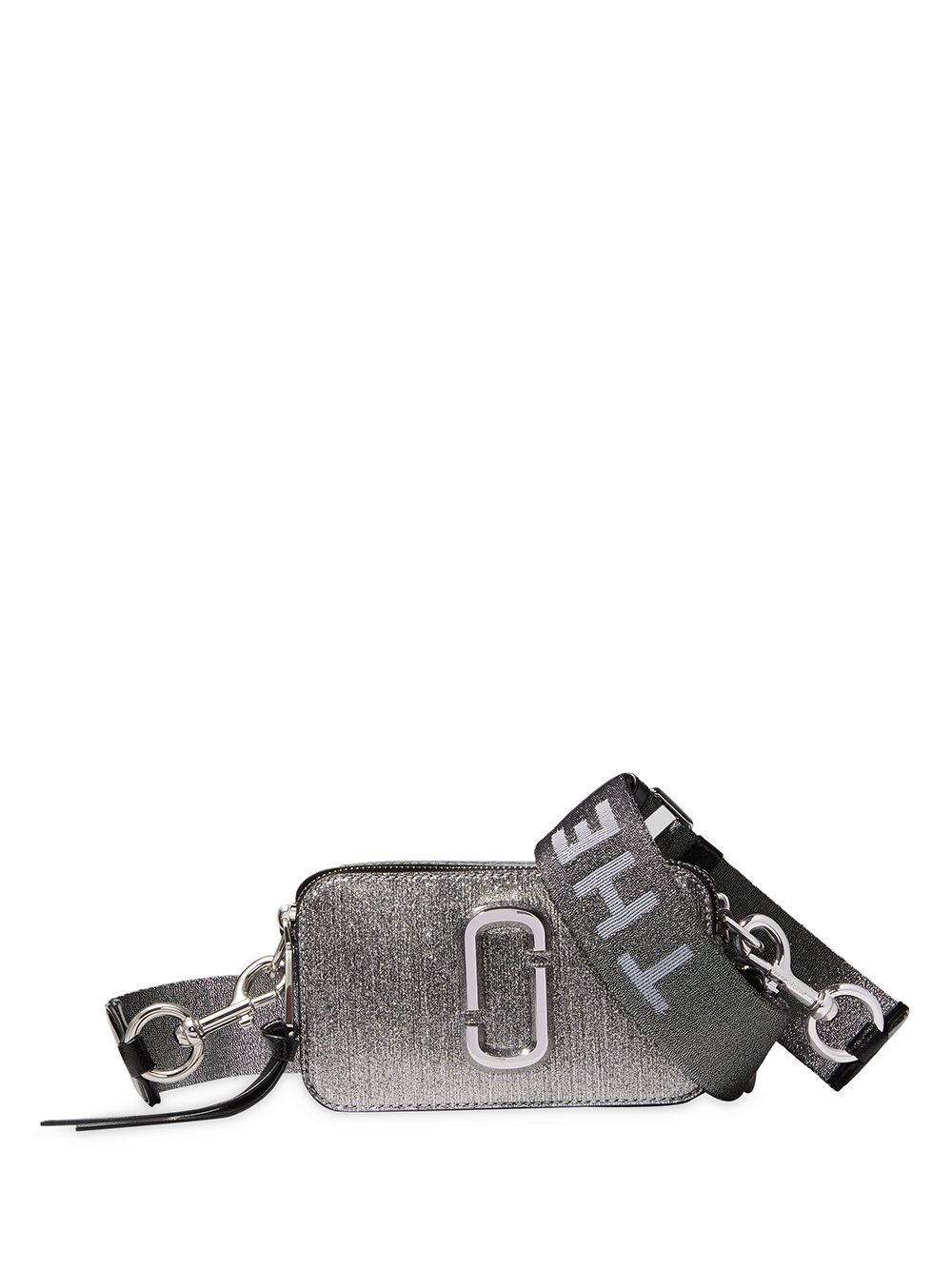 Snapshot Glittered Leather Crossbody Bag