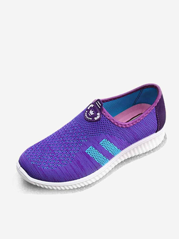 Women Outdoor Running Mesh Slip On Casual Shoes
