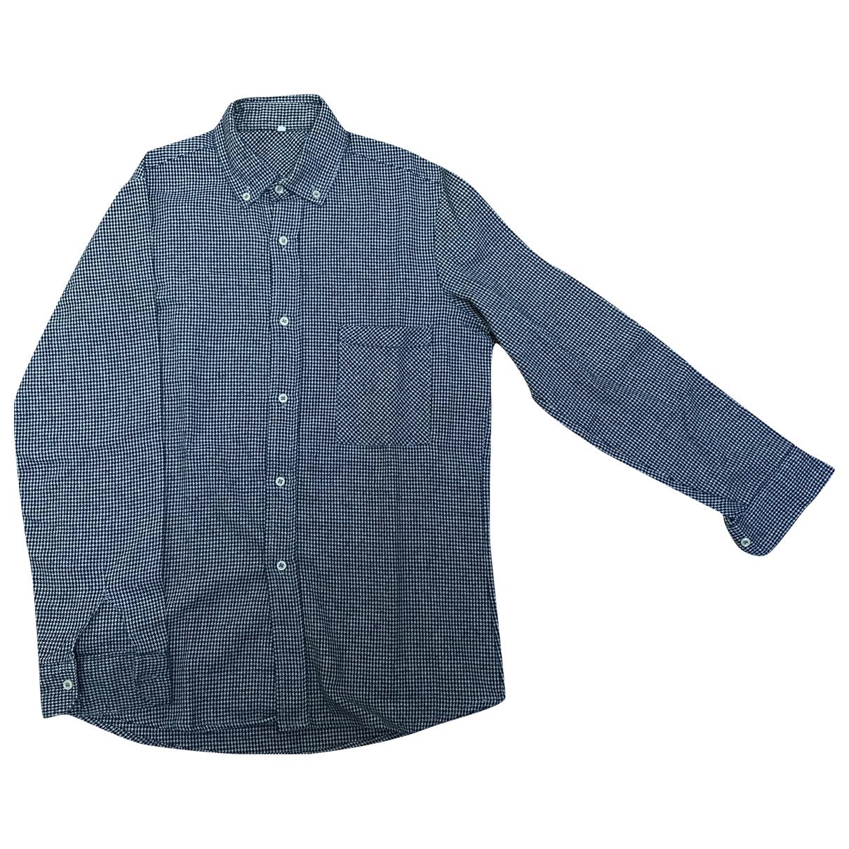 - Chemises Oversize pour homme en laine - noir