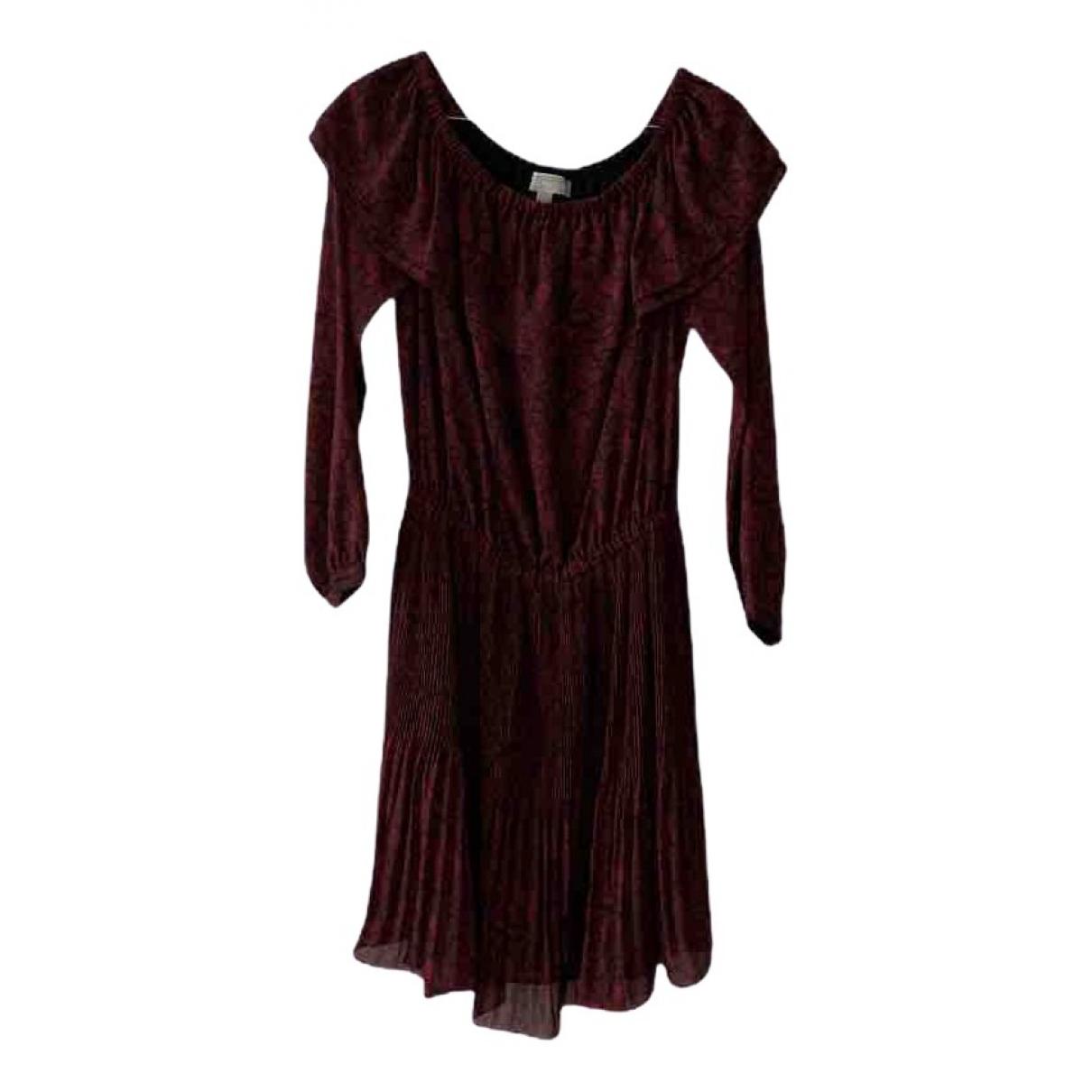 Michael Kors \N Kleid in  Bordeauxrot Polyester