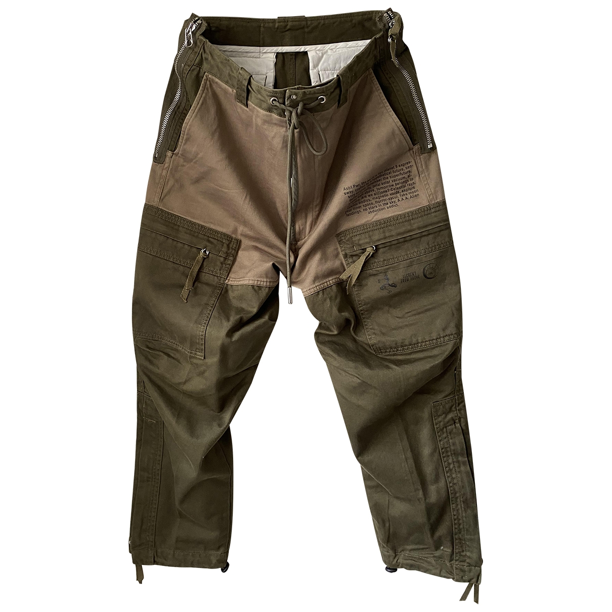 Diesel \N Khaki Cotton Trousers for Men 30 UK - US