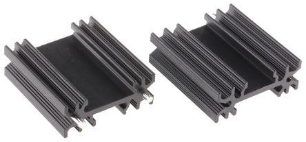 AAVID THERMALLOY Heatsink, 10.2K/W, 12.5 x 34.5 x 38mm, Solder, Black (5)