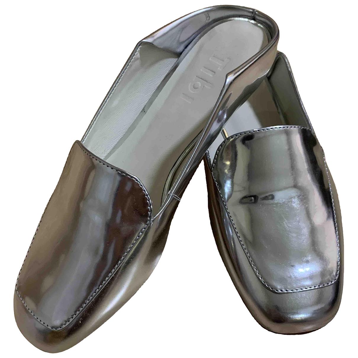 Tibi - Sandales   pour femme en cuir - metallise