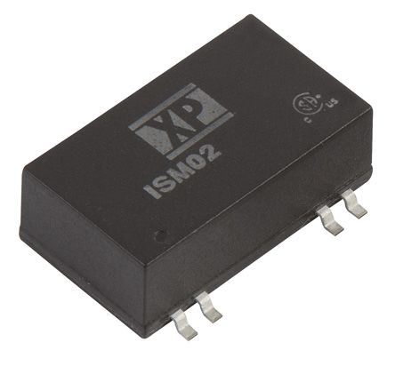 XP Power ISM02 2W Isolated DC-DC Converter Surface Mount, Voltage in 10.8 → 13.2 V dc, Voltage out 5V dc Medical