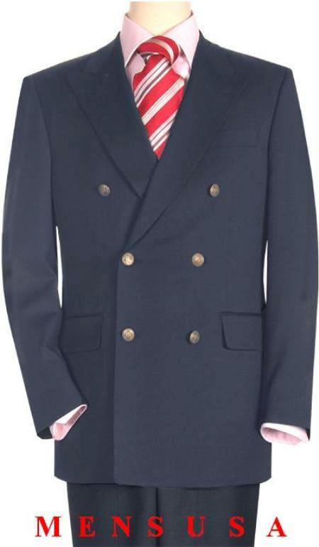 High Quality Dark Gray Double Breasted Blazer with Peak Lapels