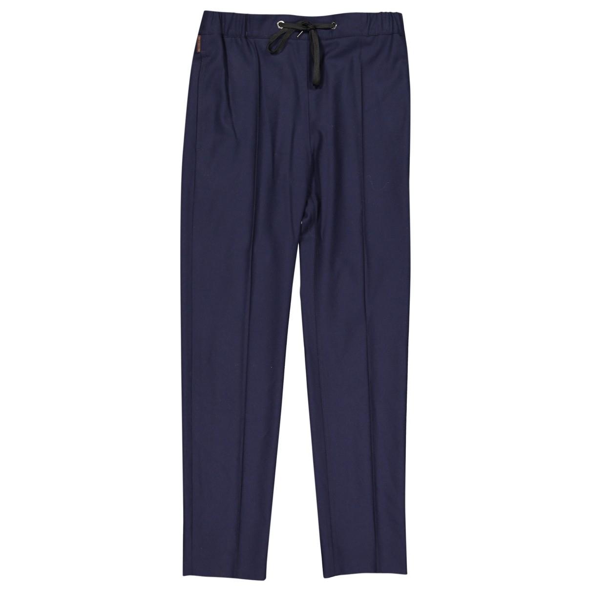 Louis Vuitton \N Navy Wool Trousers for Women 36 FR