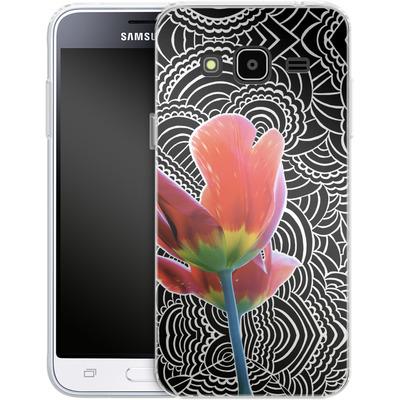 Samsung Galaxy J3 (2016) Silikon Handyhuelle - Tulips von Kaitlyn Parker