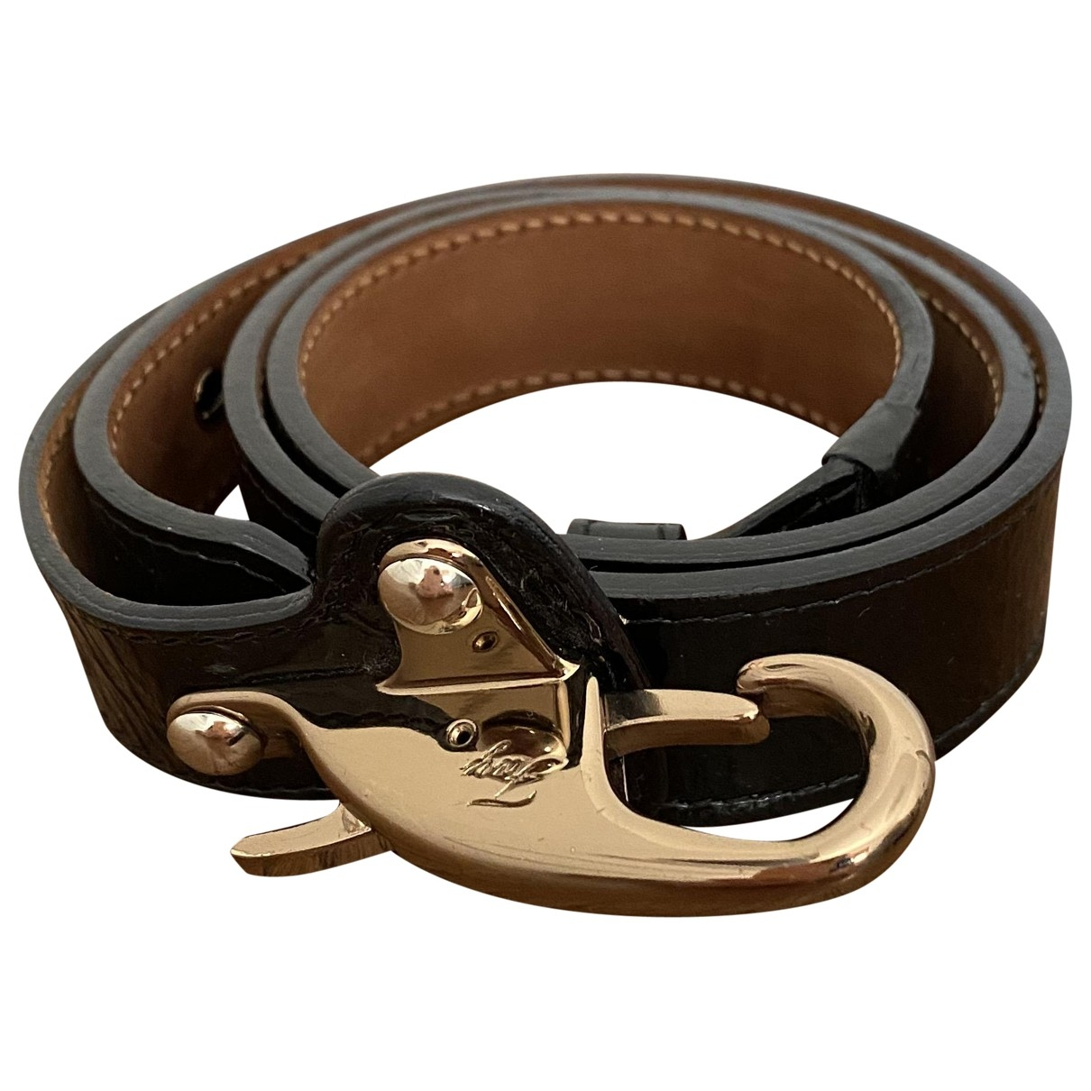 Fay \N Black Patent leather belt for Women M International