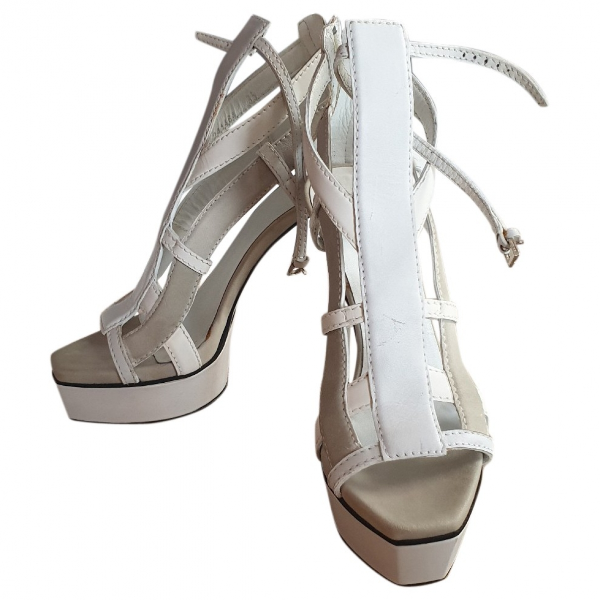 Gucci \N White Leather Sandals for Women 35 EU