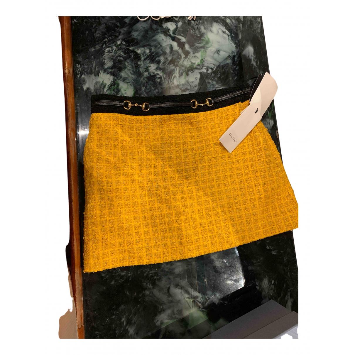 Gucci - Jupe   pour femme en tweed - jaune