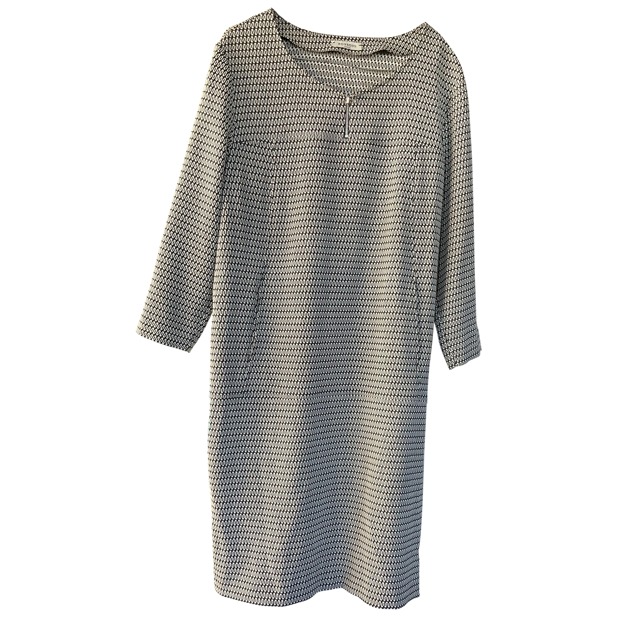 Non Signé / Unsigned Oversize Beige dress for Women 50-52 IT