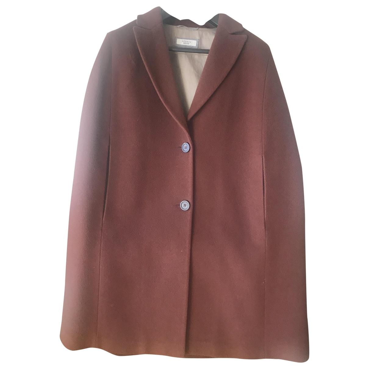 Peserico \N Burgundy Wool coat for Women 42 IT
